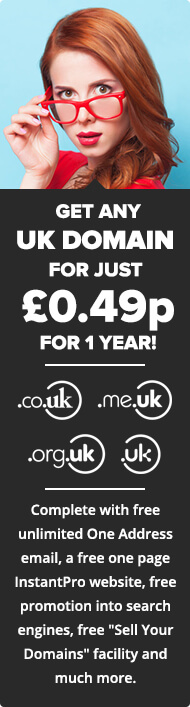 Register any .uk domain name for just 49p