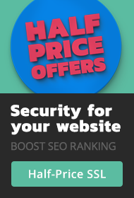 Half price SSL certificates