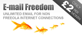 Freeola E-mail Freedom - Unlimited E-mail Anywhere!