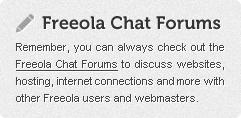 Freeola Chat Forums!