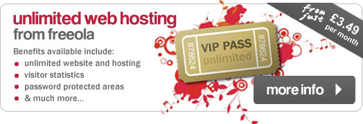 Unlimited web hosting from Freeola
