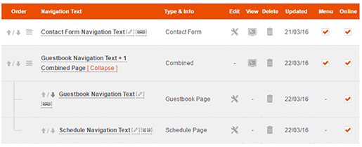 Manage Combined Pages