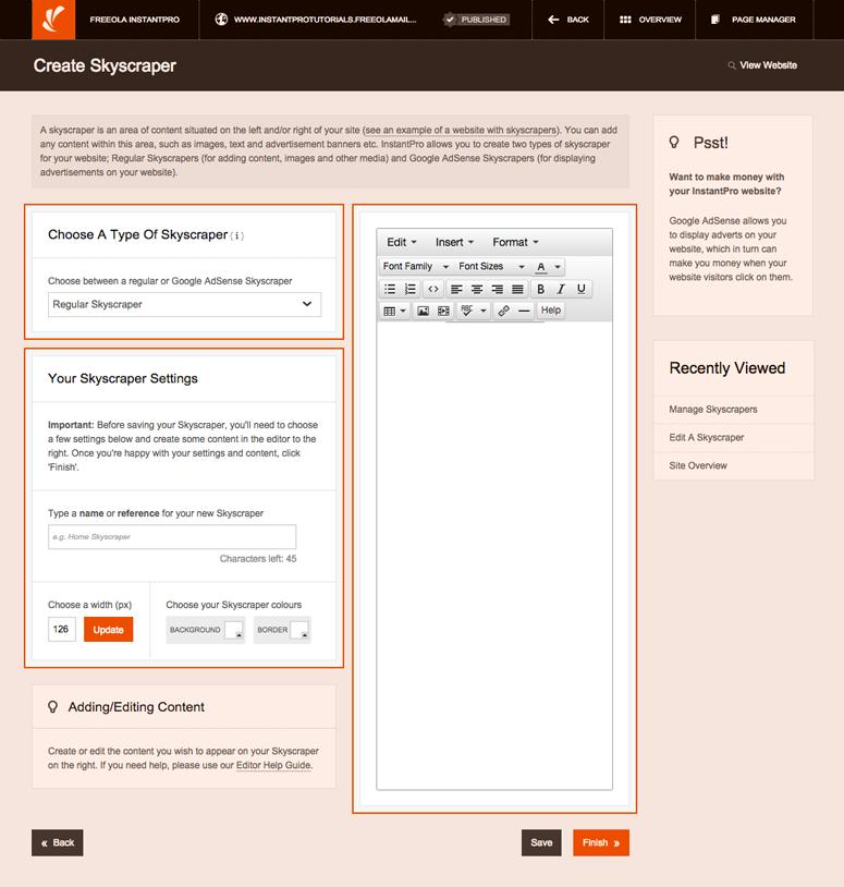 website builder personal how to add drop menu