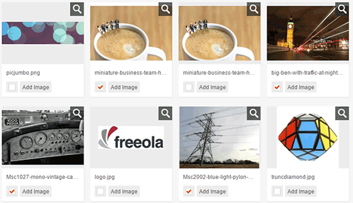 Select Images from Media Library