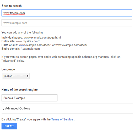Create Search Engine