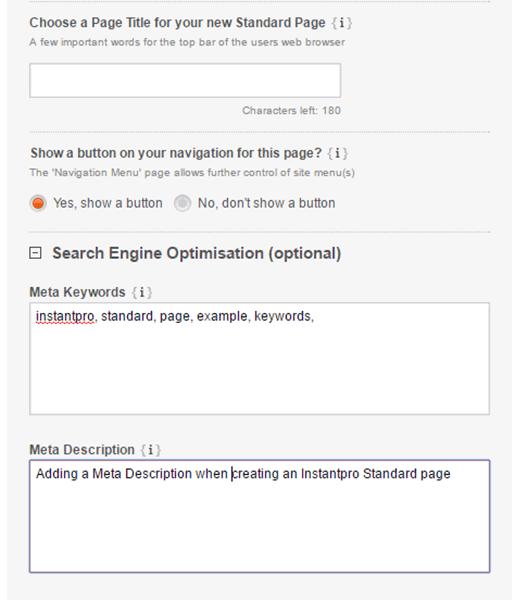 Enter META Information