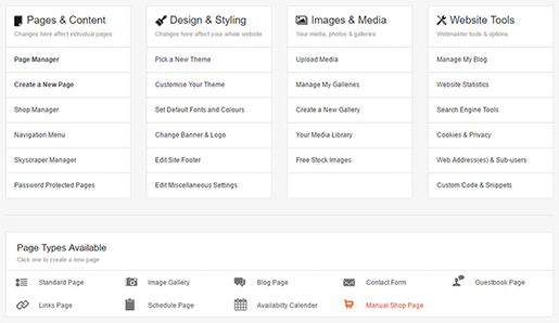 Create a Manual Shop Page