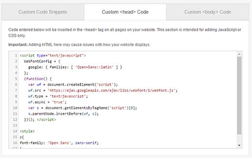 Custom Code Page