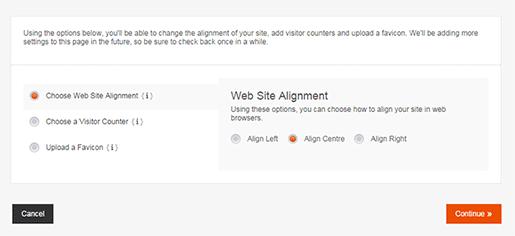 Editing Site Alignment