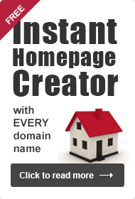 Free homepage with every domain name
