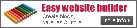 Easy Web Site Builder - Create Blogs, Galleries & More...