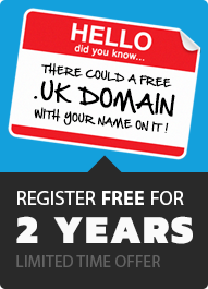 Free .UK domain offer
