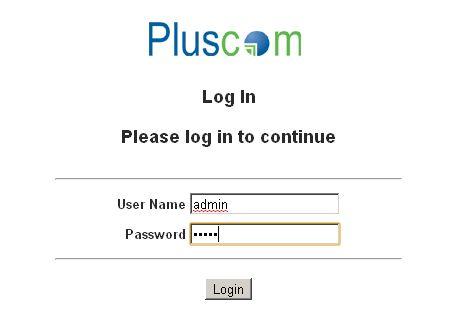 Pluscom Router Login