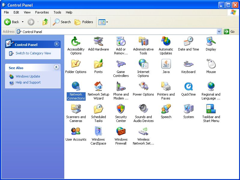 how to change dns on windows xp