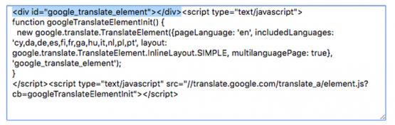 Adding Google Translate to your InstantPro Site
