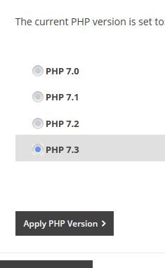 Different PHP Versions in MyFreeola