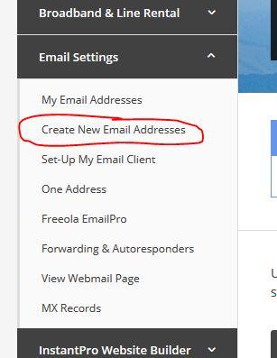 Create New Email Address