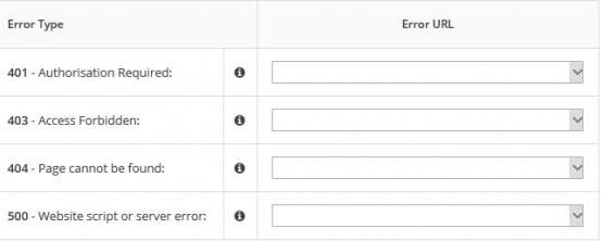Freeola VIP+ Custom Error Pages