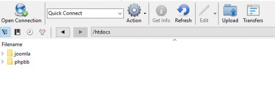 Cyberduck Folder Structure