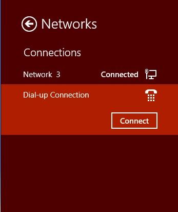 Network List in Windows 8