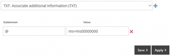 Adding a TXT Record in MyFreeola