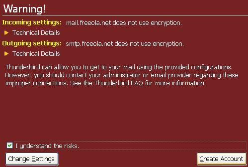 Thunderbird SSL Warning