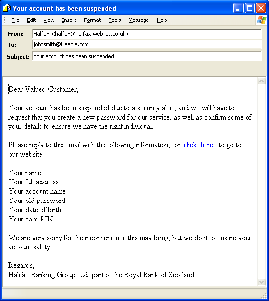 example of email