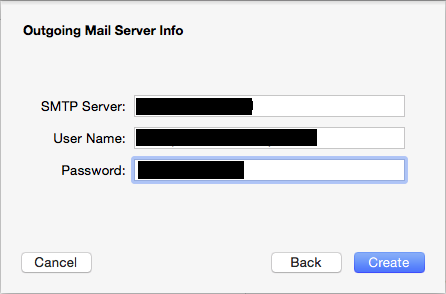 Mac Mail SMTP Settings