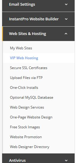 Web Sites and Hosting in MyFreeola