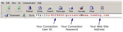 Netscape FTP Upload