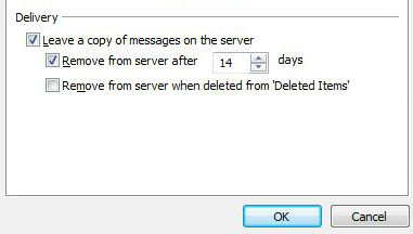 Leave a copy of mail in Outlook2010
