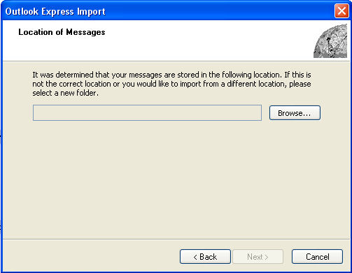 Location of Outlook Express Backup