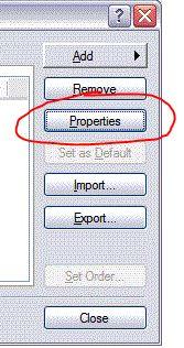 Outlook Express Properties
