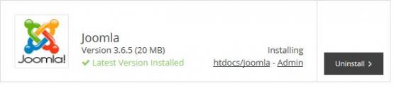 Joomla Admin link