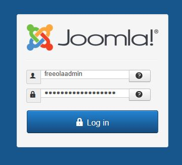 Login to Joomla
