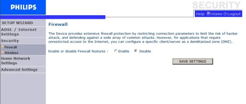 Philips Router Firewall
