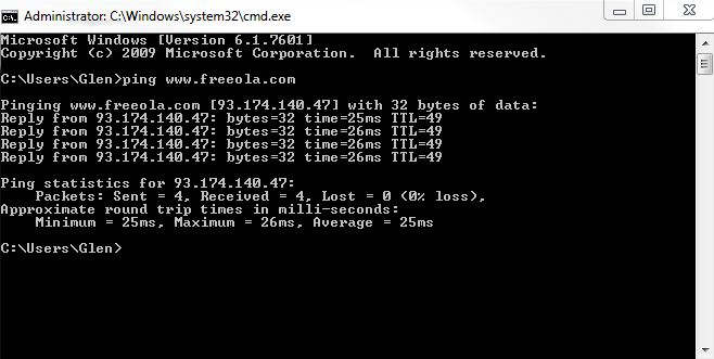 How to Ping and Traceroute to websites
