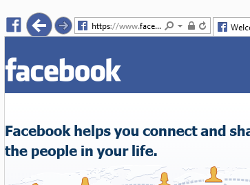 Facebook colour of the browser navigation buttons