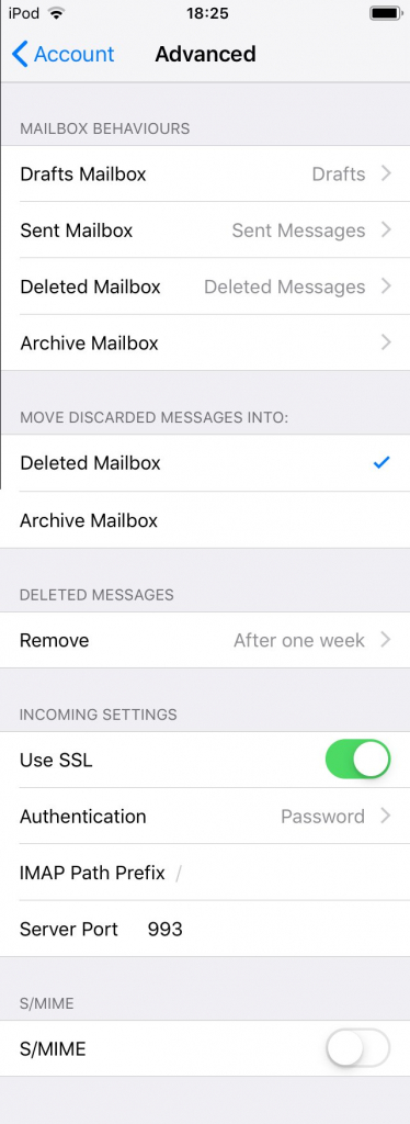 Apple Mail Advanced Settings