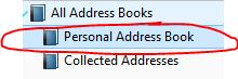 Personal Address Book in Thunderbird