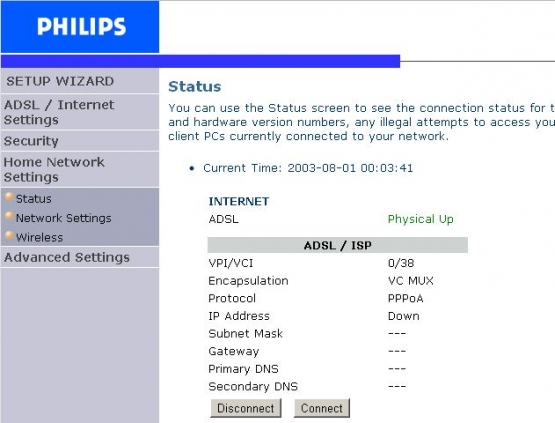 Philips Router Status