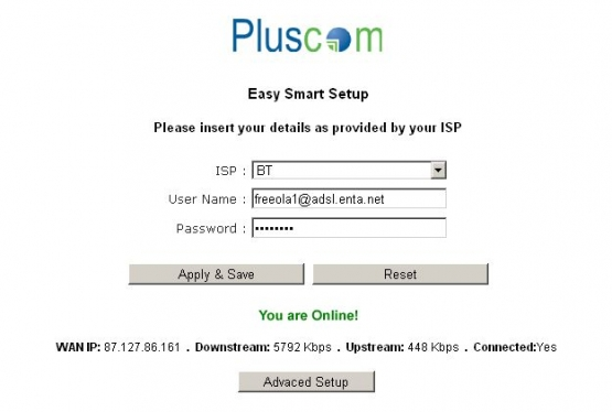 Pluscom Router Stats
