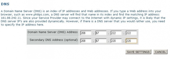 Philips DNS Settings