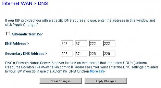 Belkin DNS