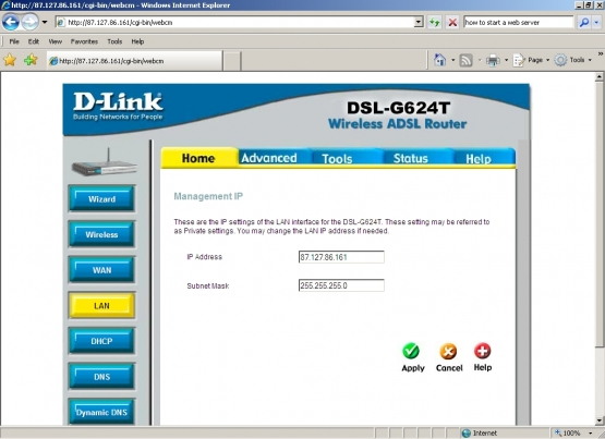 D-Link LAN Settings
