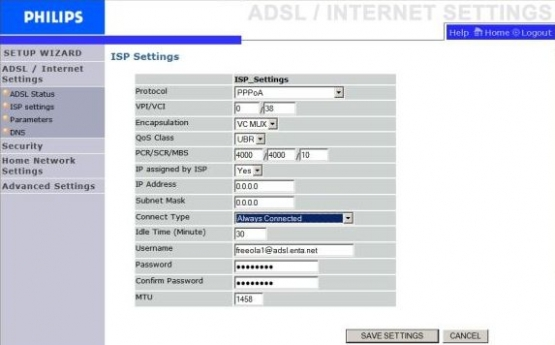 Philips ISP Settings