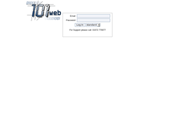 Screenshot of the 101 Web Design homepage