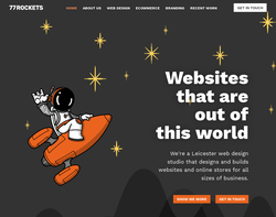 Screenshot of the 77 Rockets Limited homepage