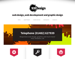 Screenshot of the 939 Design Limited homepage