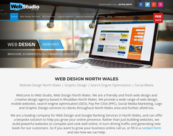 Screenshot of the Web Studio North Wales homepage